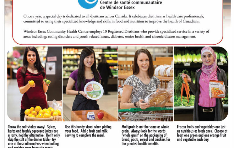 National Dietitian's Day – Windsor Star ad